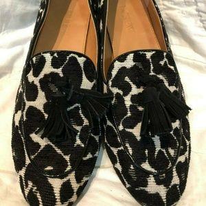J Crew Charlie Leopard Tassel Loafer Shoes 7.5